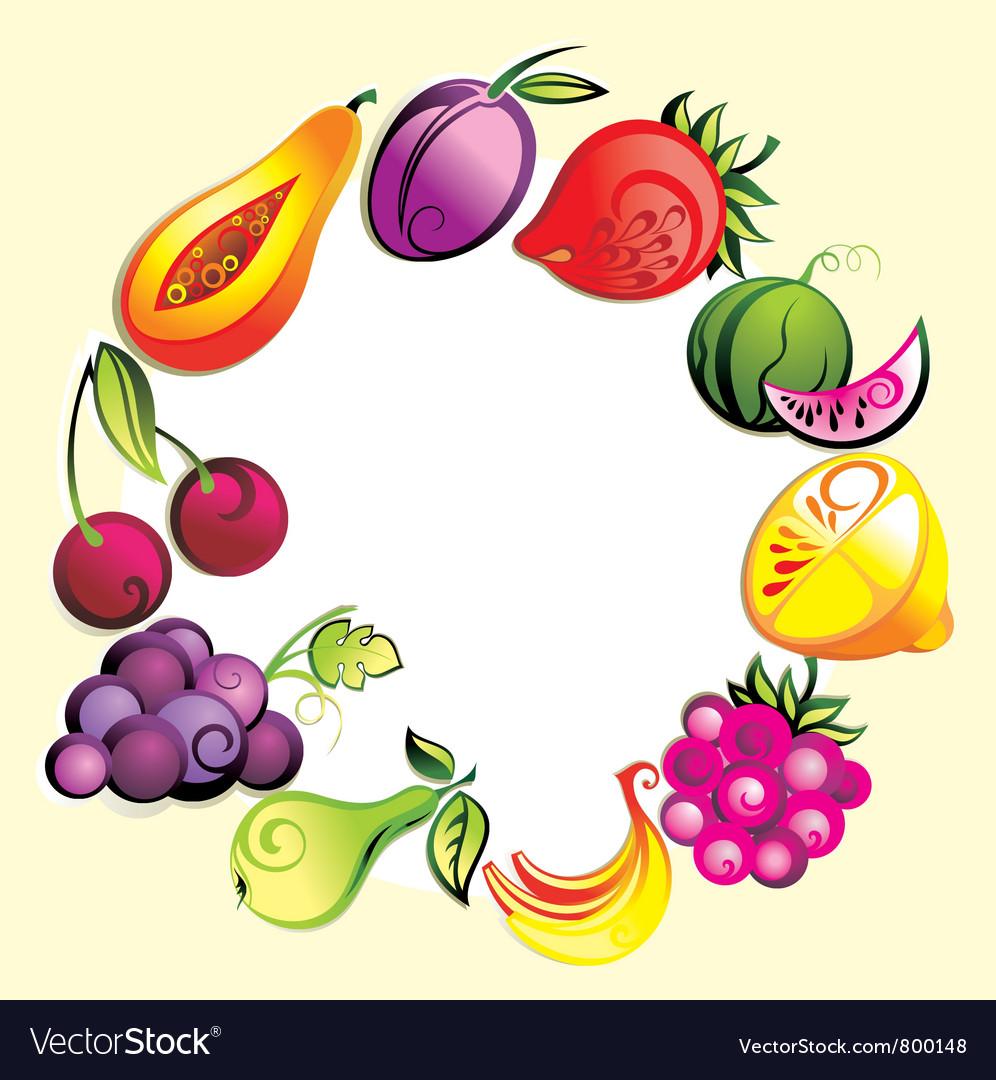 Ripe fresh fruit vector | Price: 3 Credit (USD $3)