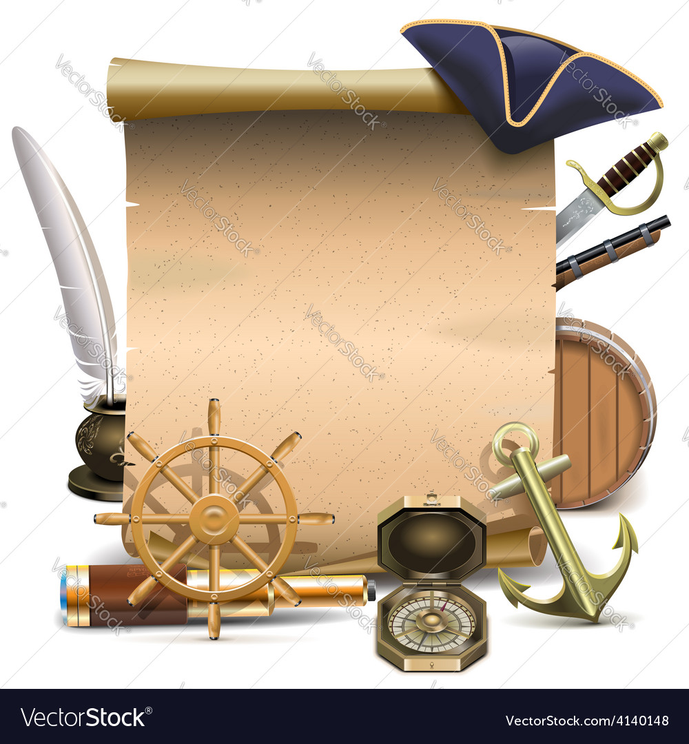 Seafaring frame vector | Price: 3 Credit (USD $3)