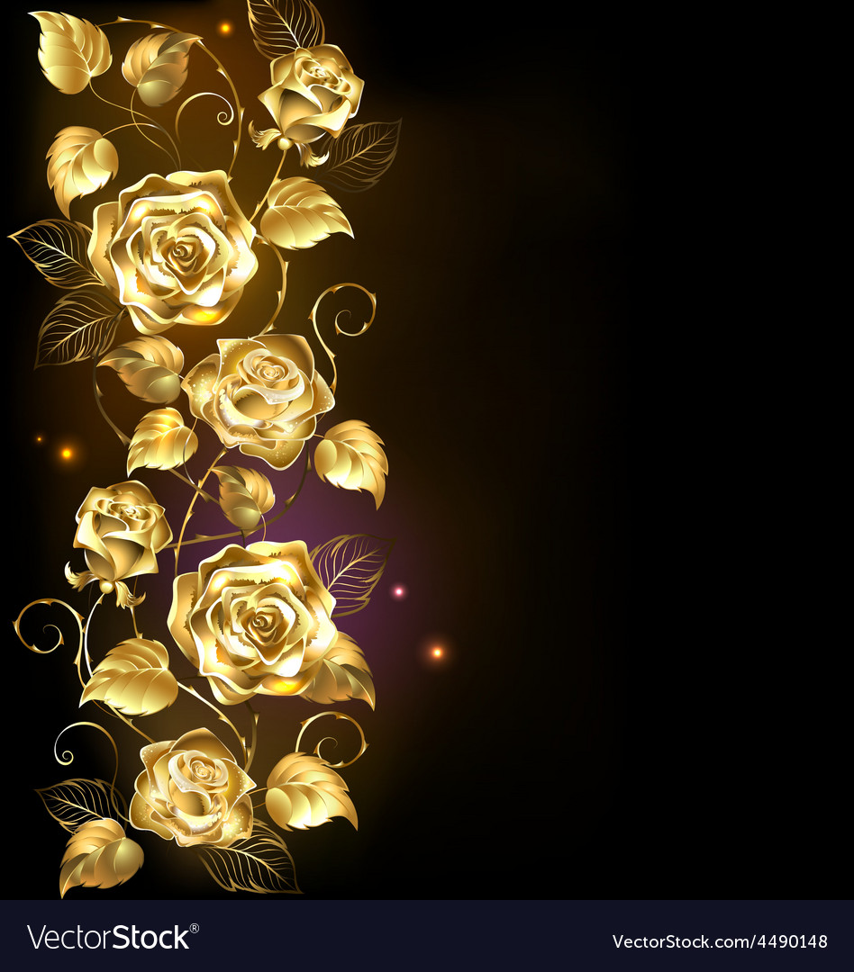 Twisted gold rose vector | Price: 3 Credit (USD $3)