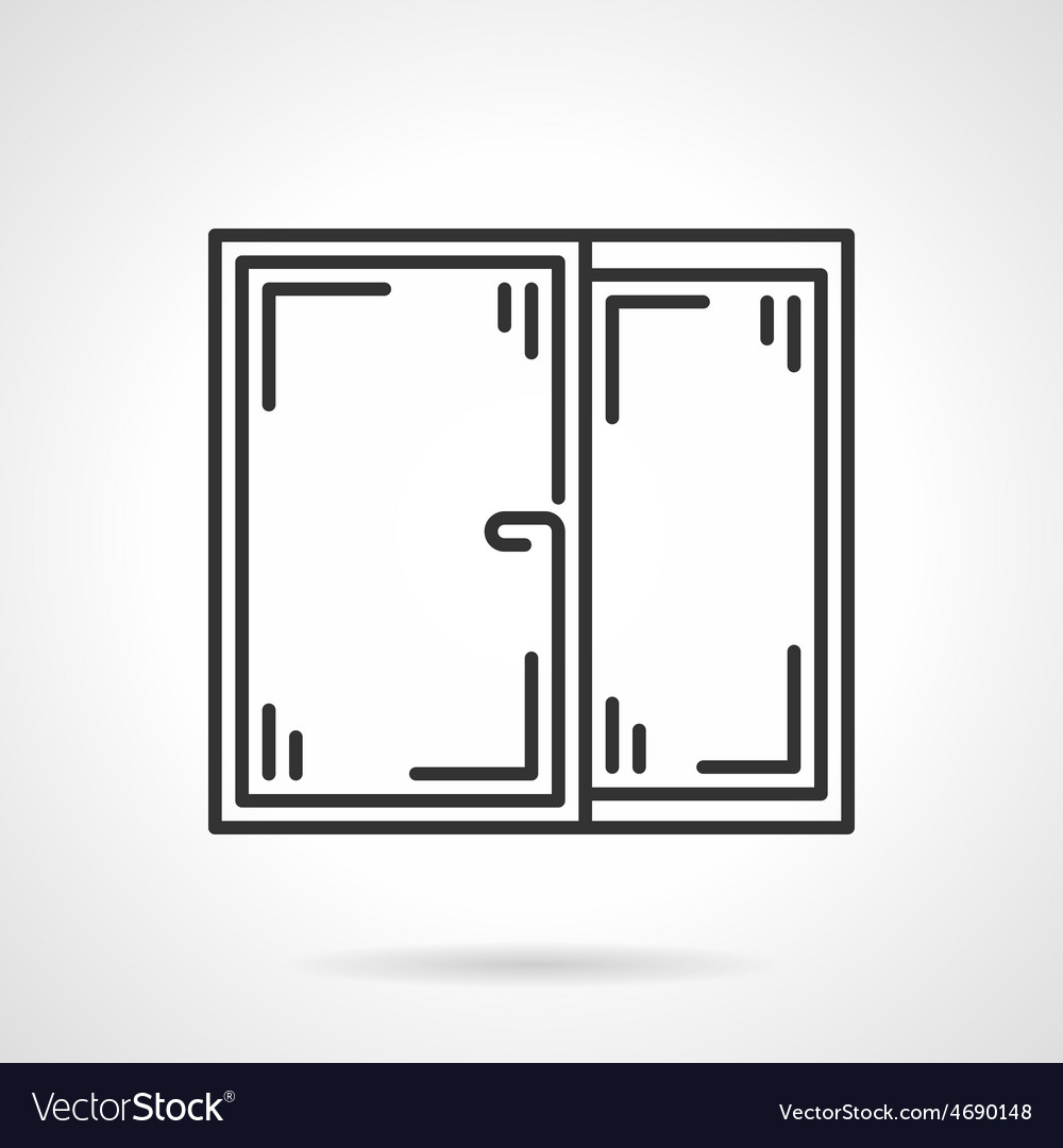 Window black line icon vector | Price: 1 Credit (USD $1)