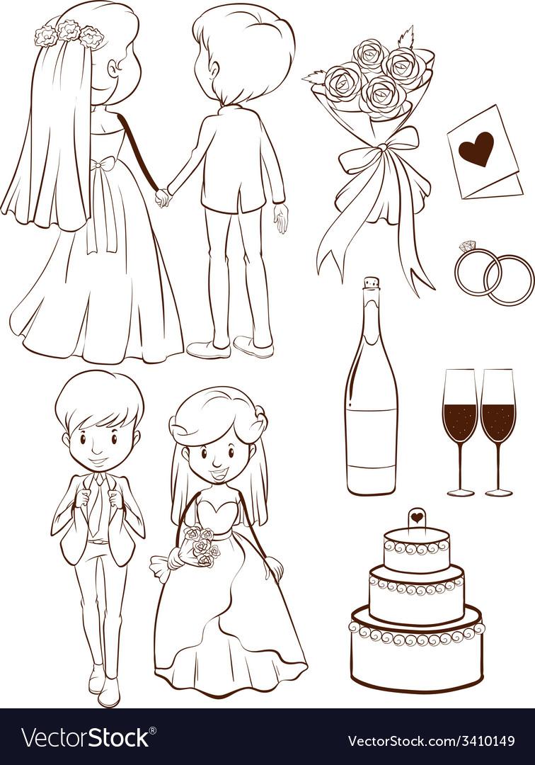 A wedding vector   Price: 1 Credit (USD $1)