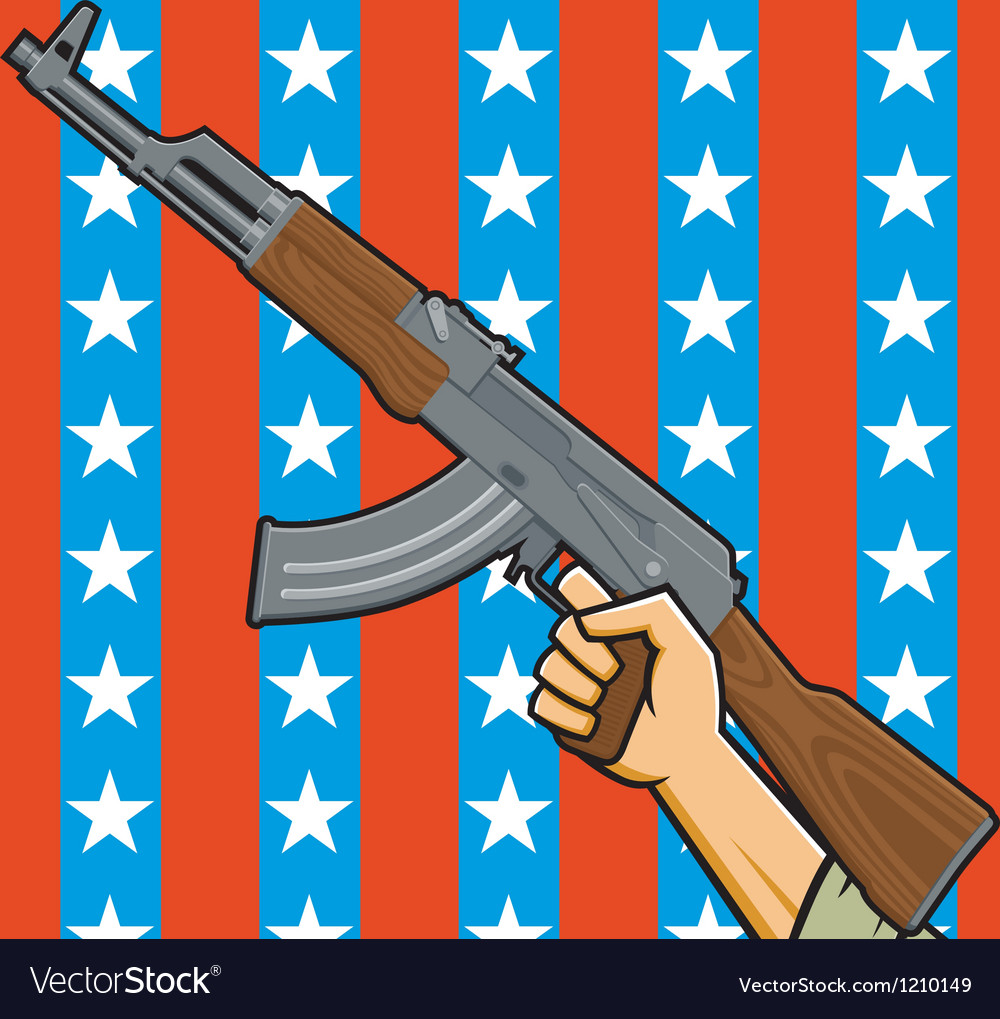 American assault rifle vector | Price: 1 Credit (USD $1)