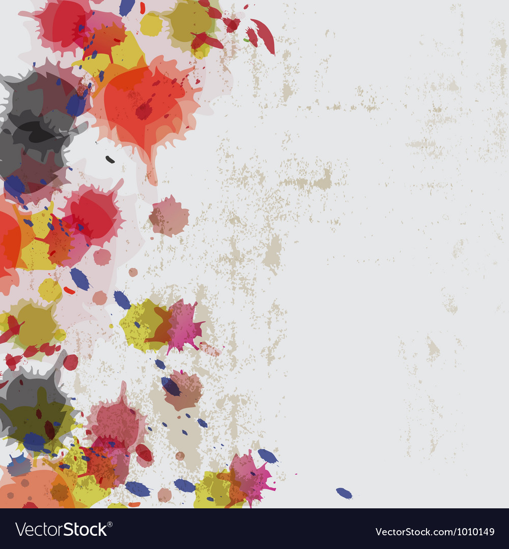Ink splatter on grunge wall vector | Price: 1 Credit (USD $1)