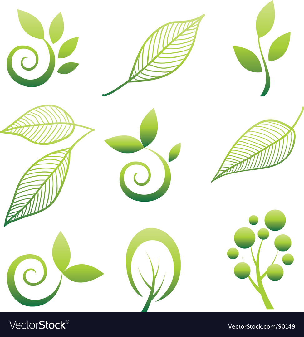 Nature icons vector | Price: 1 Credit (USD $1)