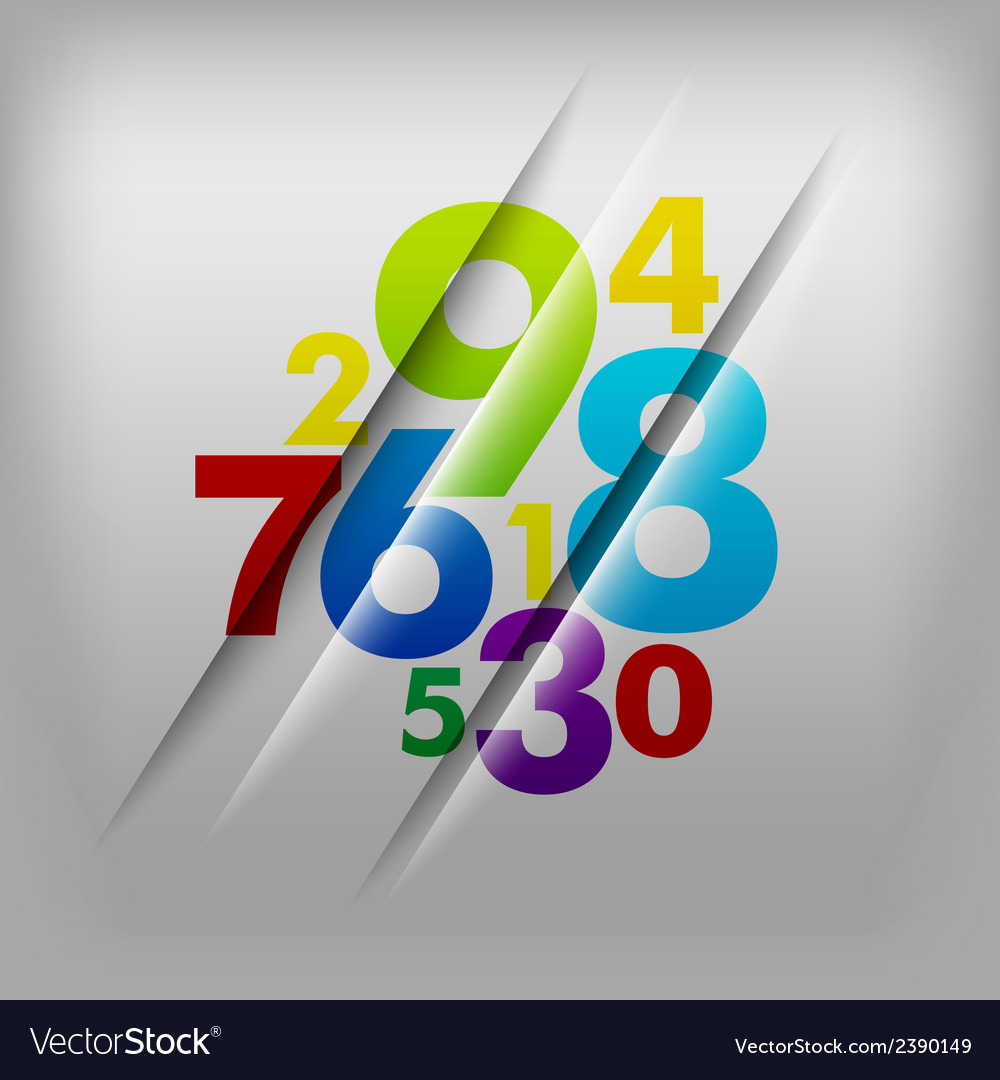 Numbers background vector | Price: 1 Credit (USD $1)