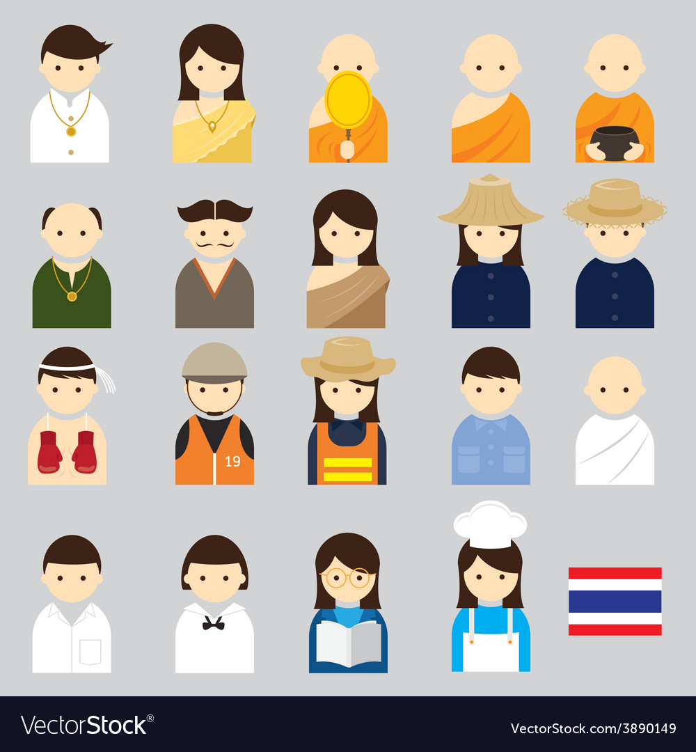 People thai vector | Price: 1 Credit (USD $1)