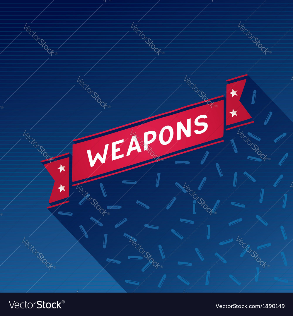 Red ribbon with the inscription weapons vector | Price: 1 Credit (USD $1)