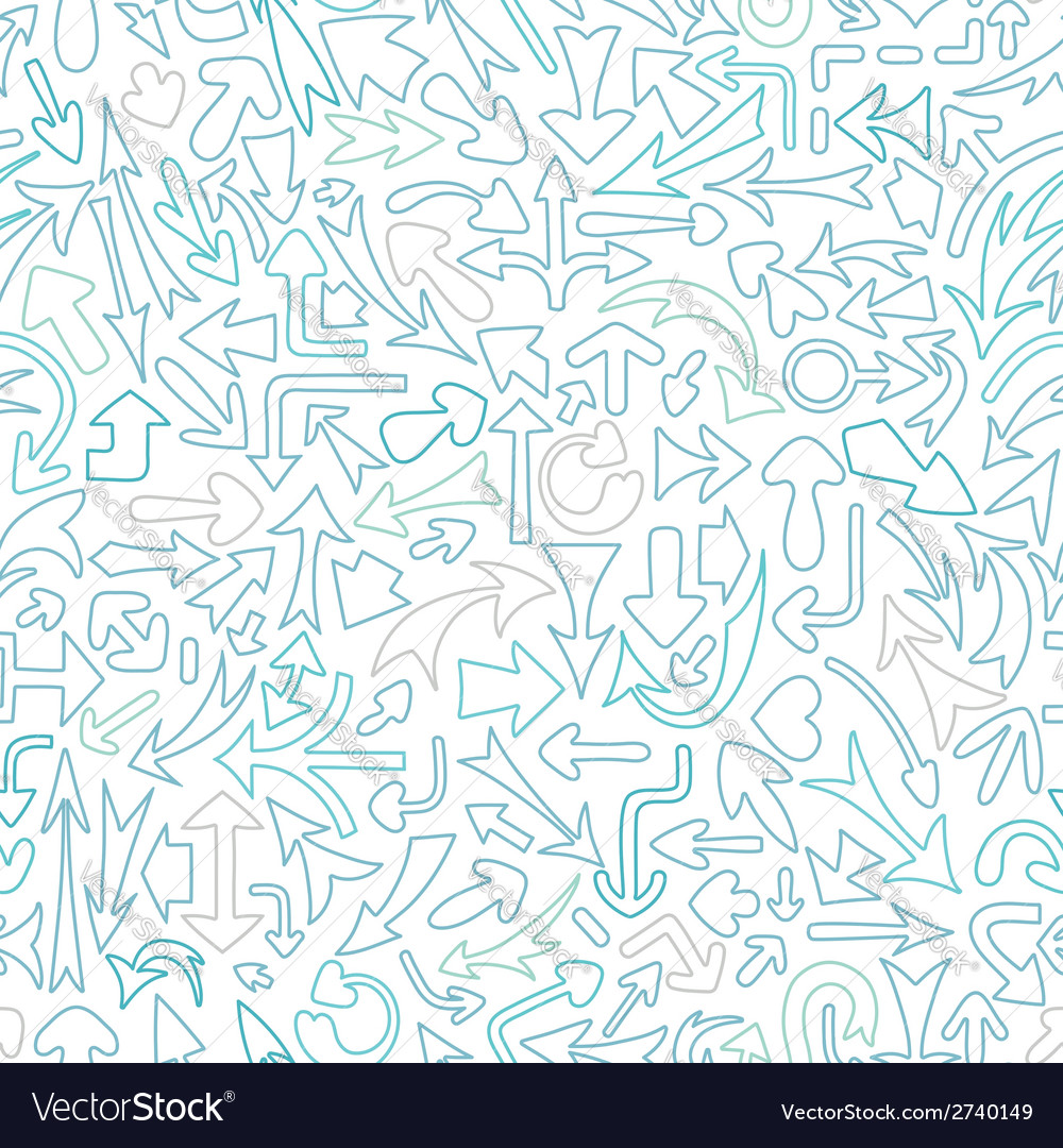 Seamless pattern with different arrows vector | Price: 1 Credit (USD $1)