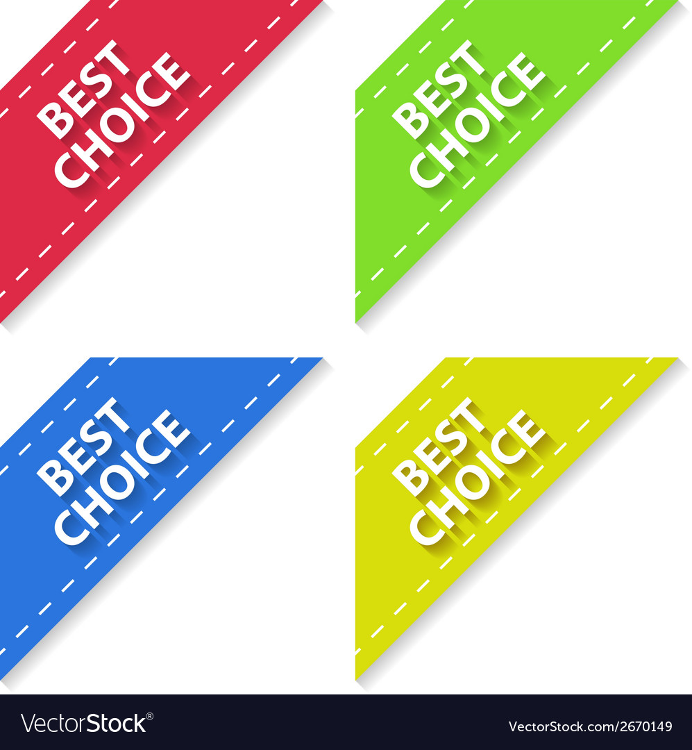 Set of flat signs best choice vector | Price: 1 Credit (USD $1)