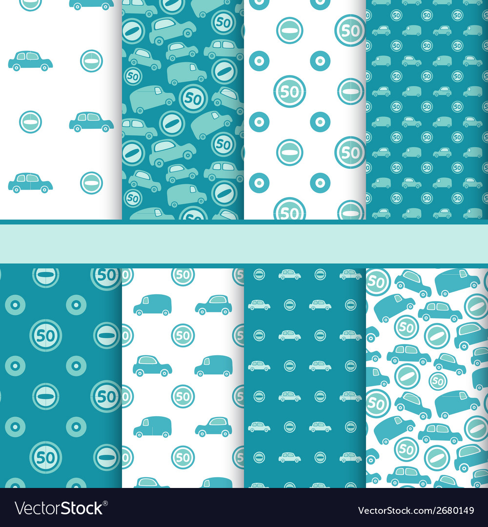 Set of seamless toy cars patterns - pattern for vector | Price: 1 Credit (USD $1)