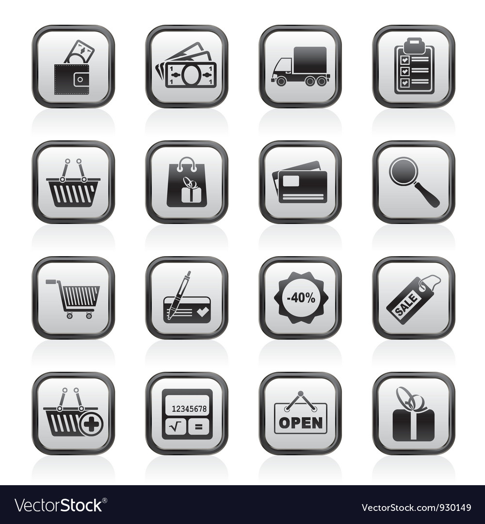 Shopping and website icons vector | Price: 1 Credit (USD $1)