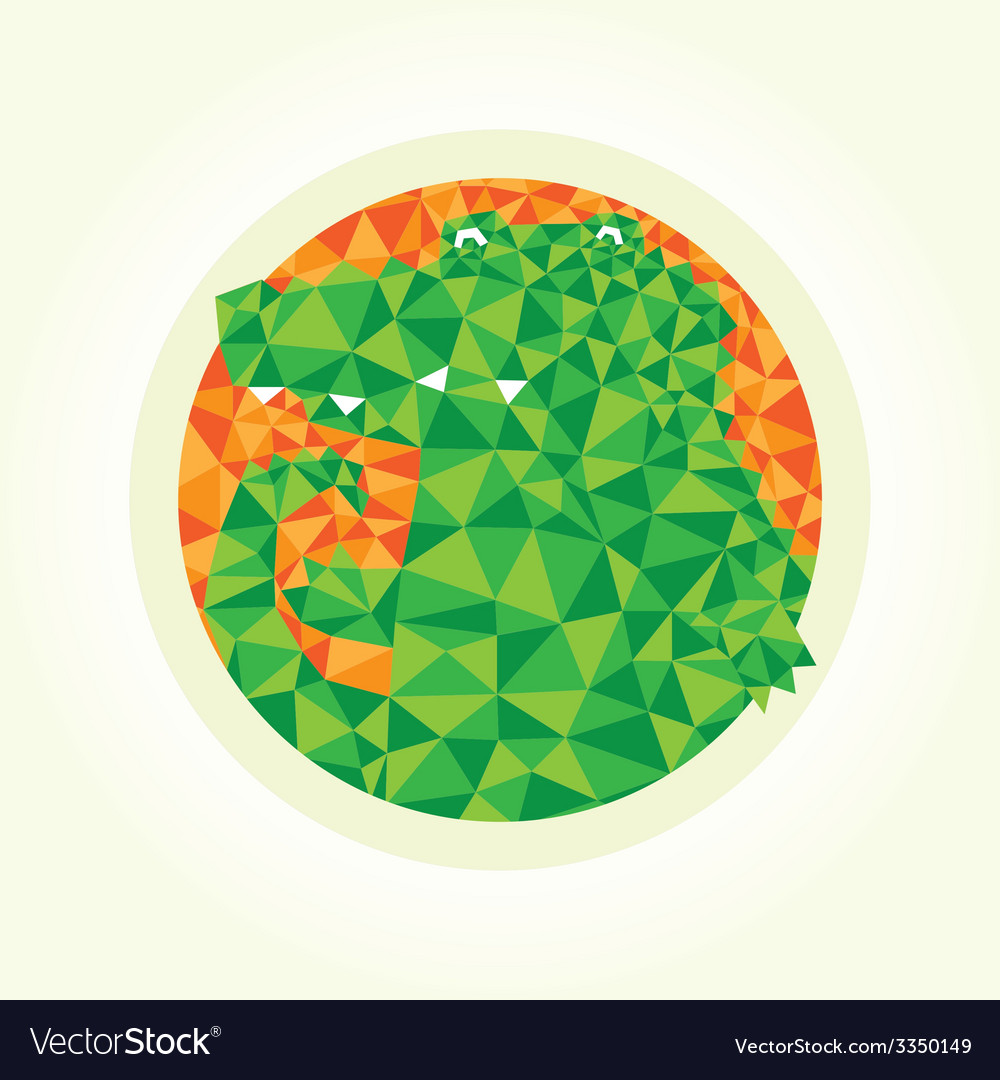 Triangle crocodile vector | Price: 1 Credit (USD $1)