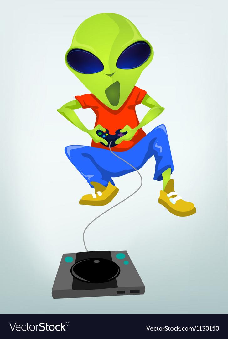 Cartoon videogame alien vector | Price: 1 Credit (USD $1)