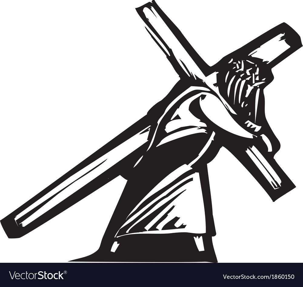 Christ and cross vector | Price: 1 Credit (USD $1)
