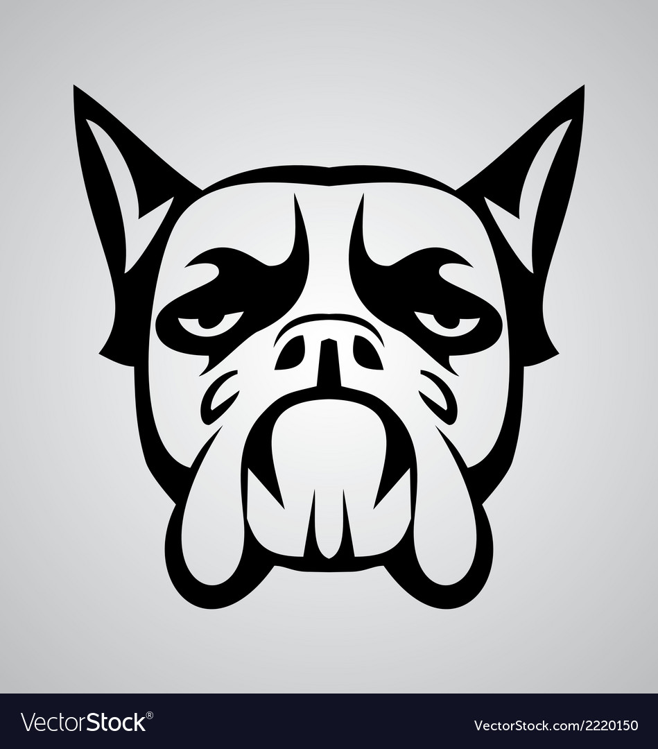 Dog face tribal vector | Price: 1 Credit (USD $1)