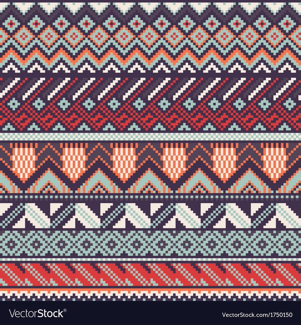 Ethnic seamless background vector | Price: 1 Credit (USD $1)