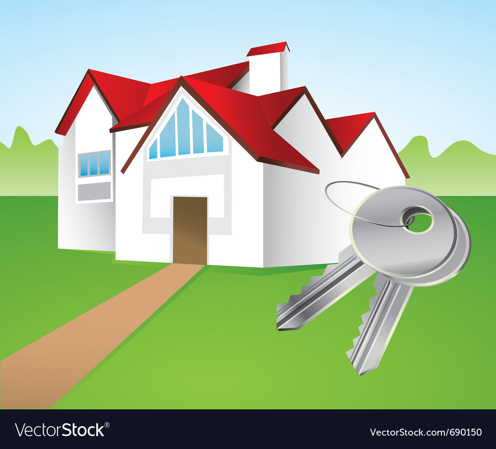 House and keys vector | Price: 1 Credit (USD $1)