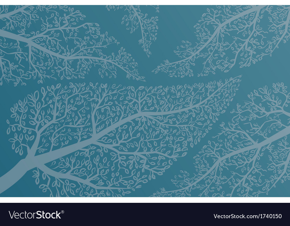Leaves on the tree branches background vector | Price: 1 Credit (USD $1)