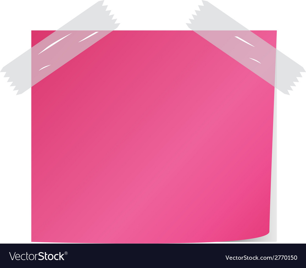 Pink post it vector | Price: 1 Credit (USD $1)
