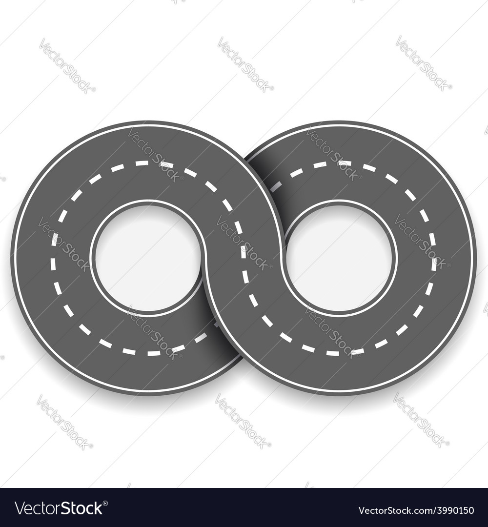 Road in the form of an infinity sign vector | Price: 1 Credit (USD $1)