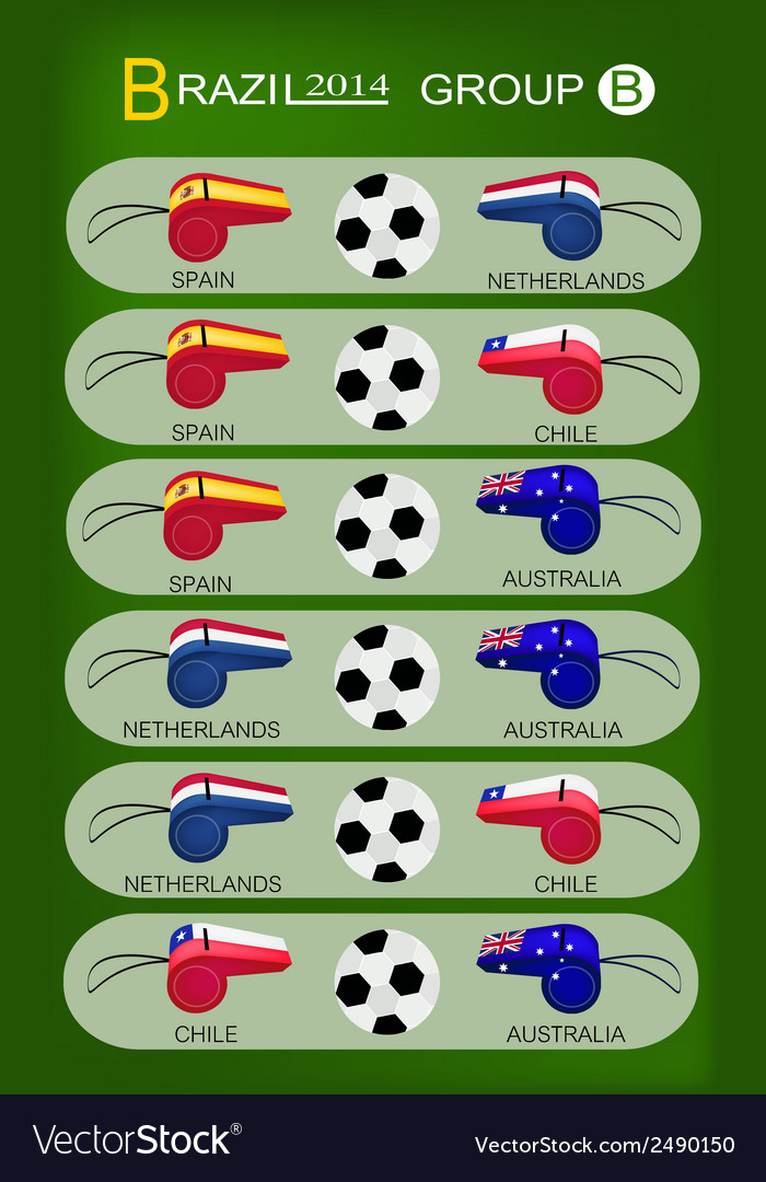 Soccer tournament of brazil 2014 group b vector | Price: 1 Credit (USD $1)