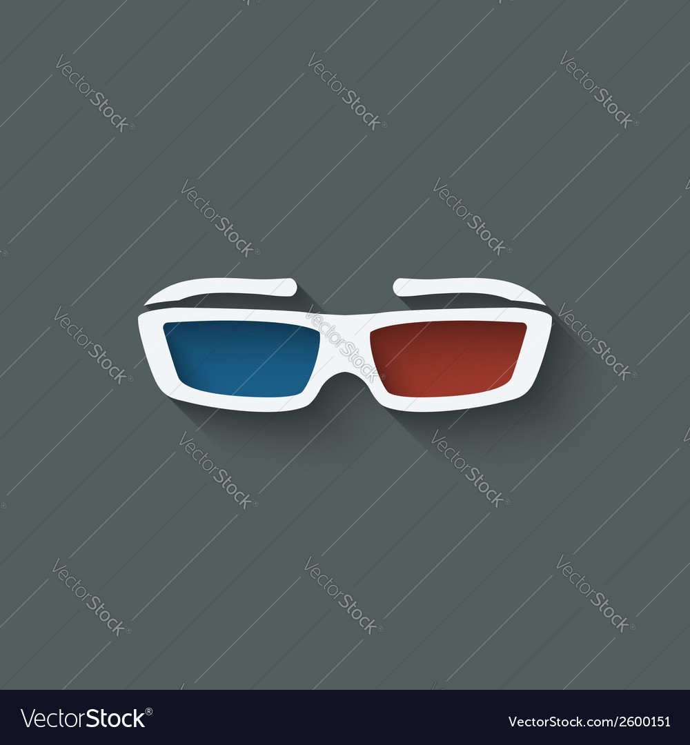 3d glasses design element vector | Price: 1 Credit (USD $1)