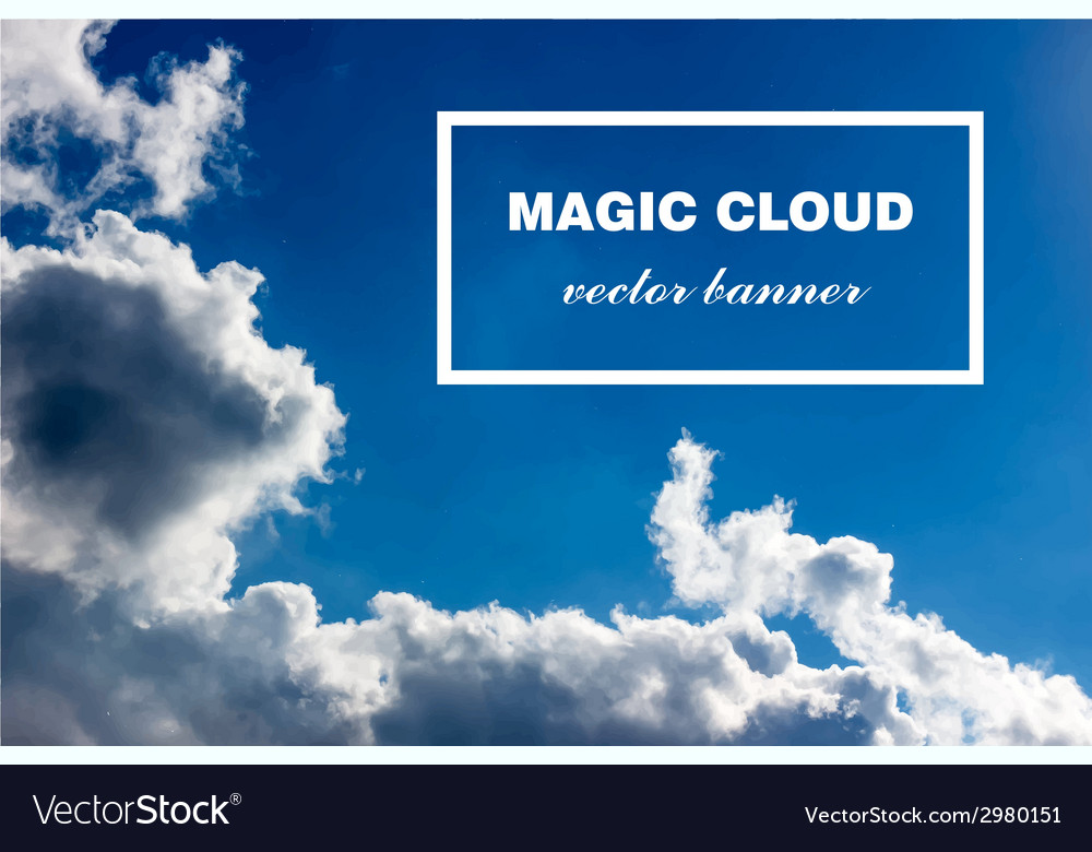 Abstract cloud banner vector | Price: 1 Credit (USD $1)