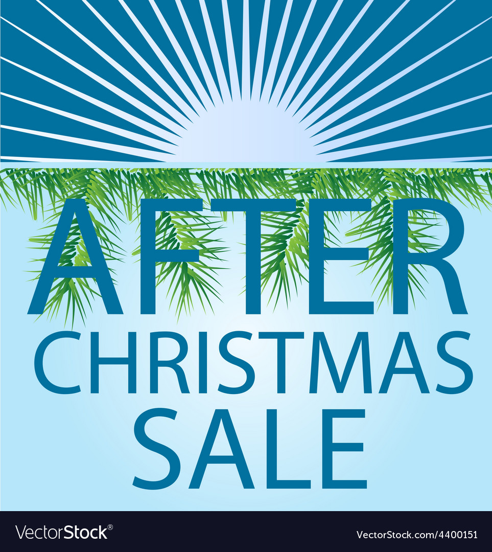 After christmas sale background vector | Price: 1 Credit (USD $1)