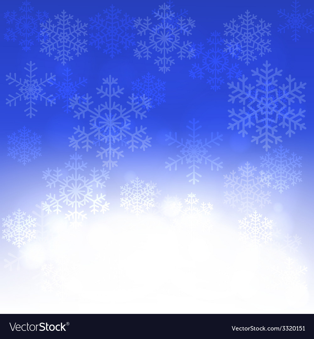 Christmas card with glowing snowflakes vector | Price: 1 Credit (USD $1)