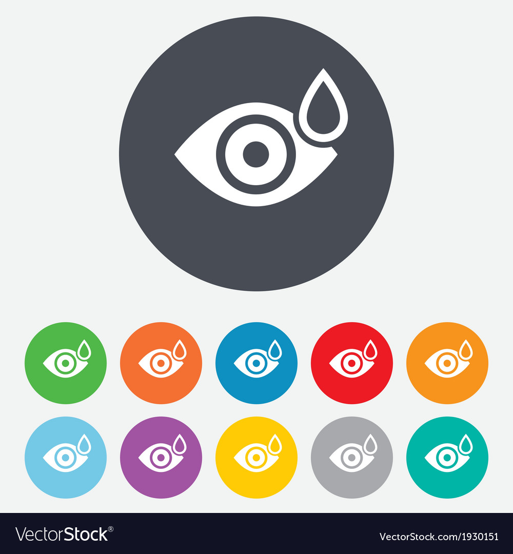 Eye with water drop sign drip into the eyes vector | Price: 1 Credit (USD $1)
