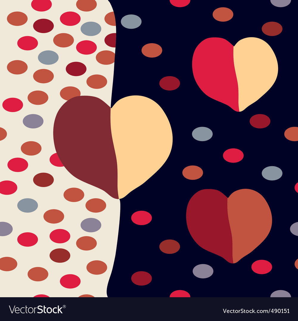 Hearts dots vector | Price: 1 Credit (USD $1)