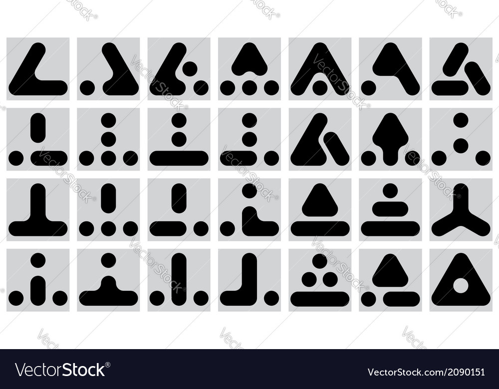 Set of geometric marks vector | Price: 1 Credit (USD $1)