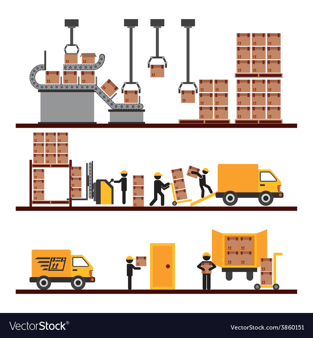 Transport of goods vector | Price: 1 Credit (USD $1)