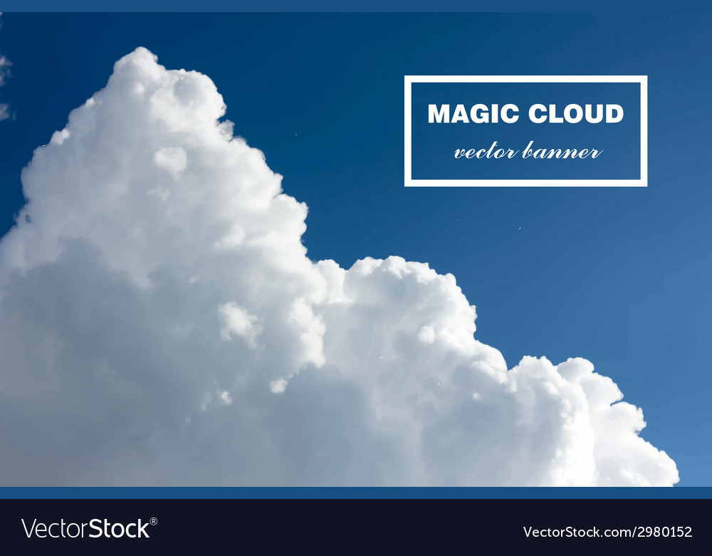 Abstract cloud banner vector   Price: 1 Credit (USD $1)