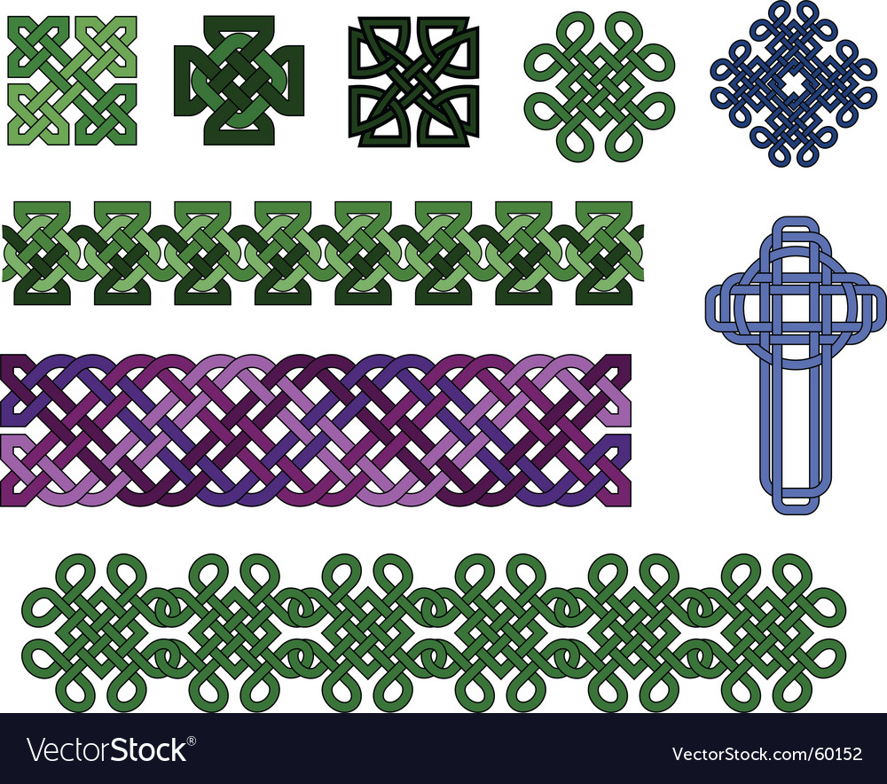 Celtic knot collection vector | Price: 1 Credit (USD $1)