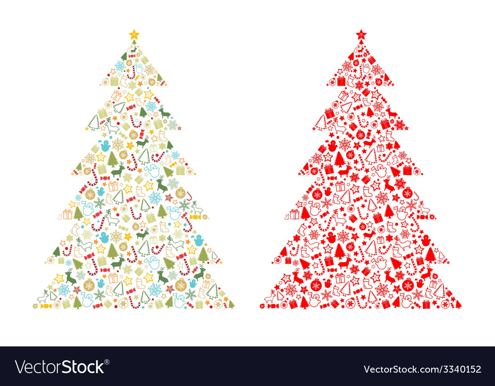 Christmas tree shape vector | Price: 1 Credit (USD $1)