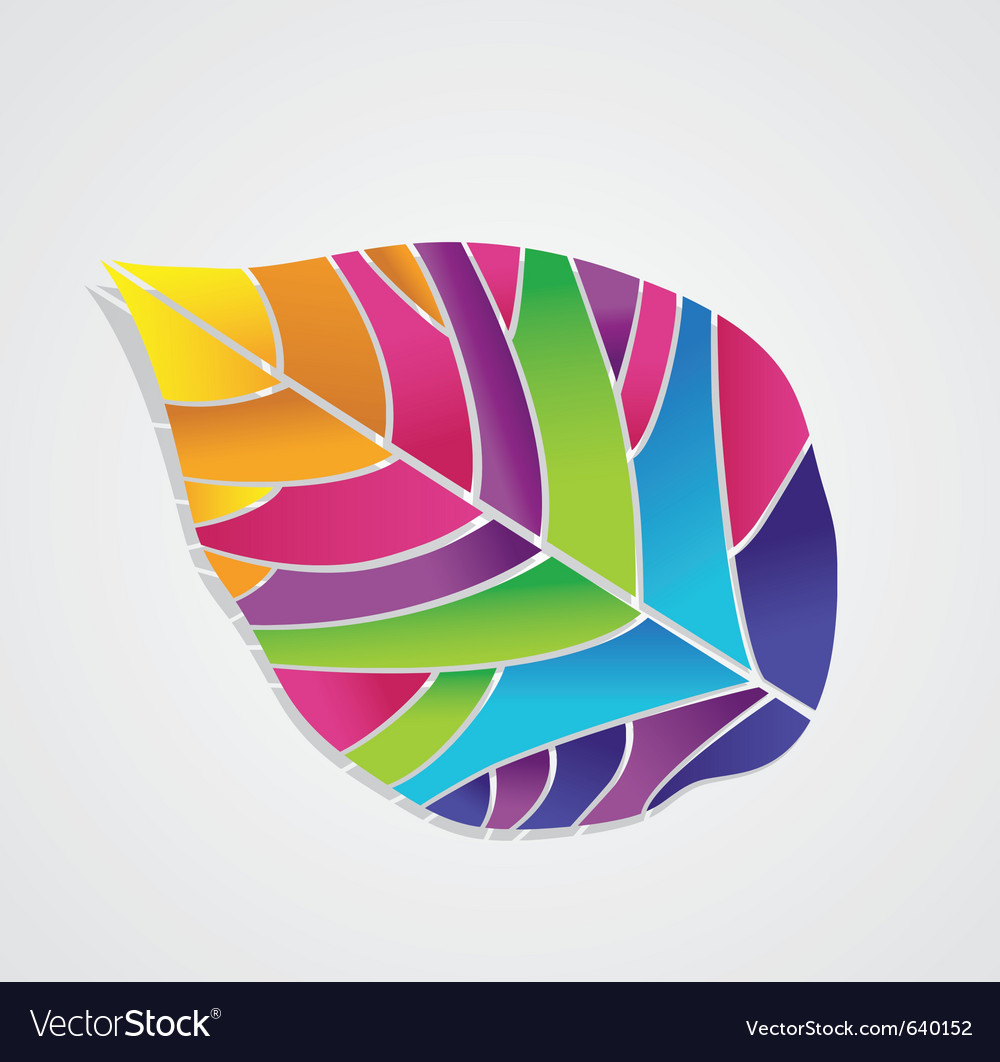 Isolated colored leaf vector | Price: 1 Credit (USD $1)