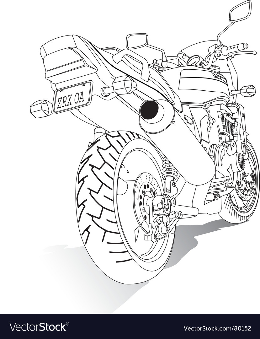 Motorbike vector | Price: 1 Credit (USD $1)