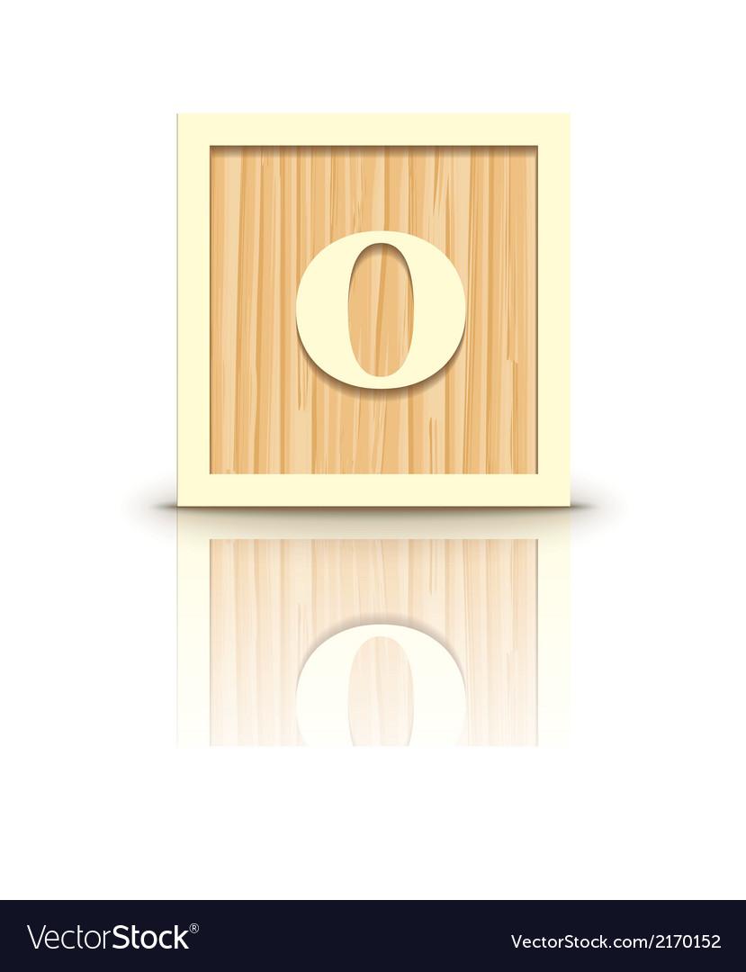 Number 0 wooden alphabet block vector | Price: 1 Credit (USD $1)