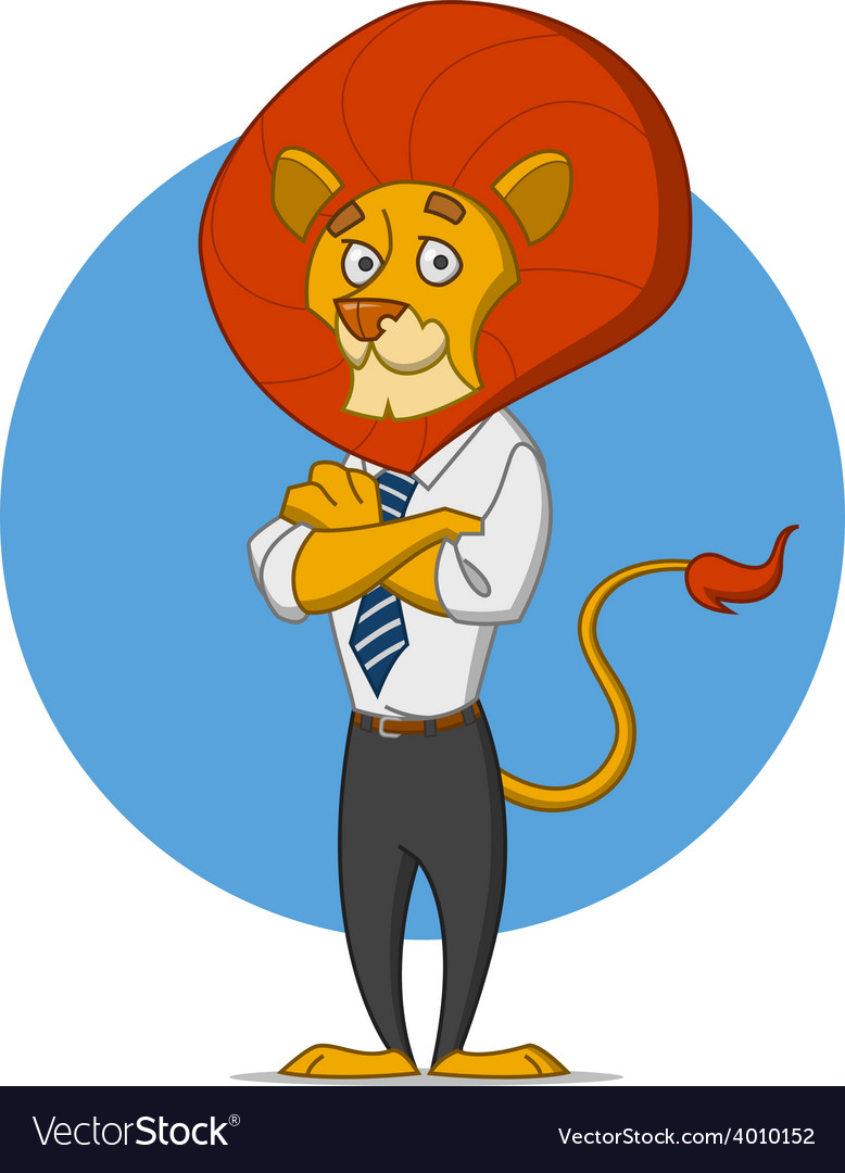 Office lion vector | Price: 1 Credit (USD $1)