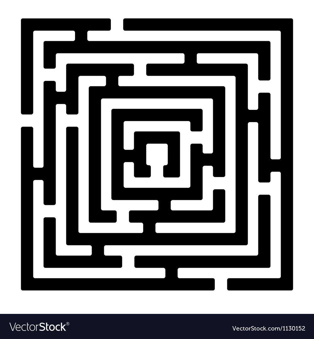 Rectangle maze izolated on white2 vector | Price: 1 Credit (USD $1)