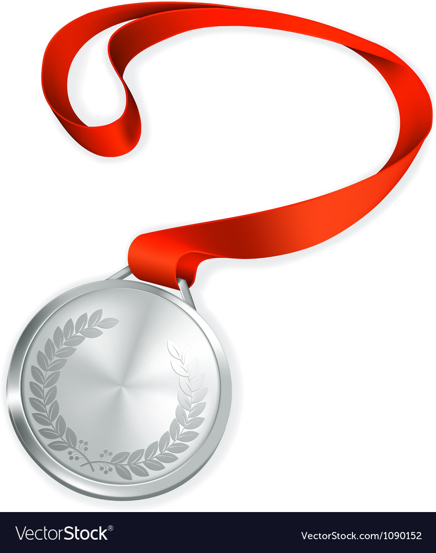 Silver medal vector | Price: 1 Credit (USD $1)