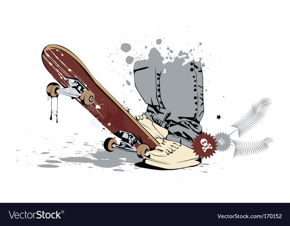 Skateboard rider vector | Price: 3 Credit (USD $3)