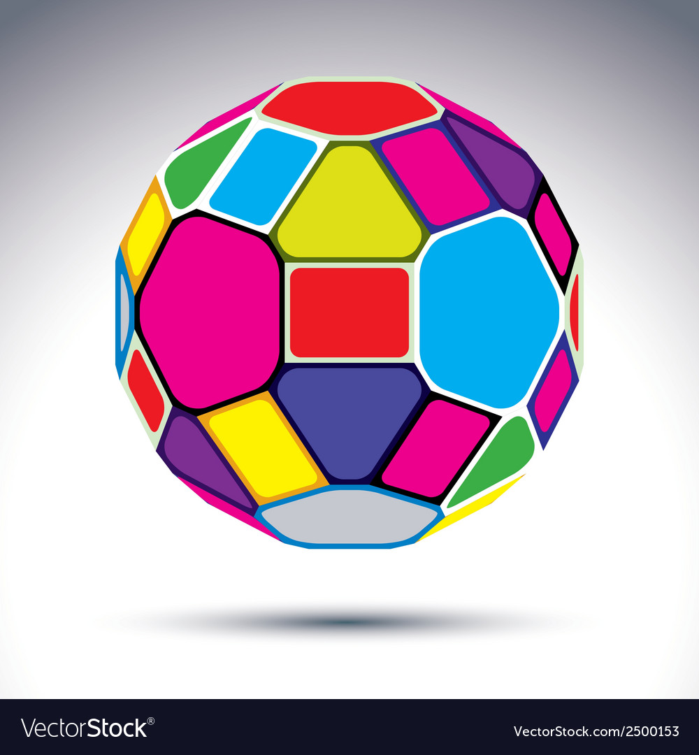 Abstract complicated 3d ball with kaleidoscope vector | Price: 1 Credit (USD $1)