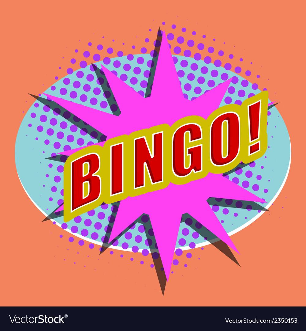 Cartoon bingo design element for the site vector | Price: 1 Credit (USD $1)