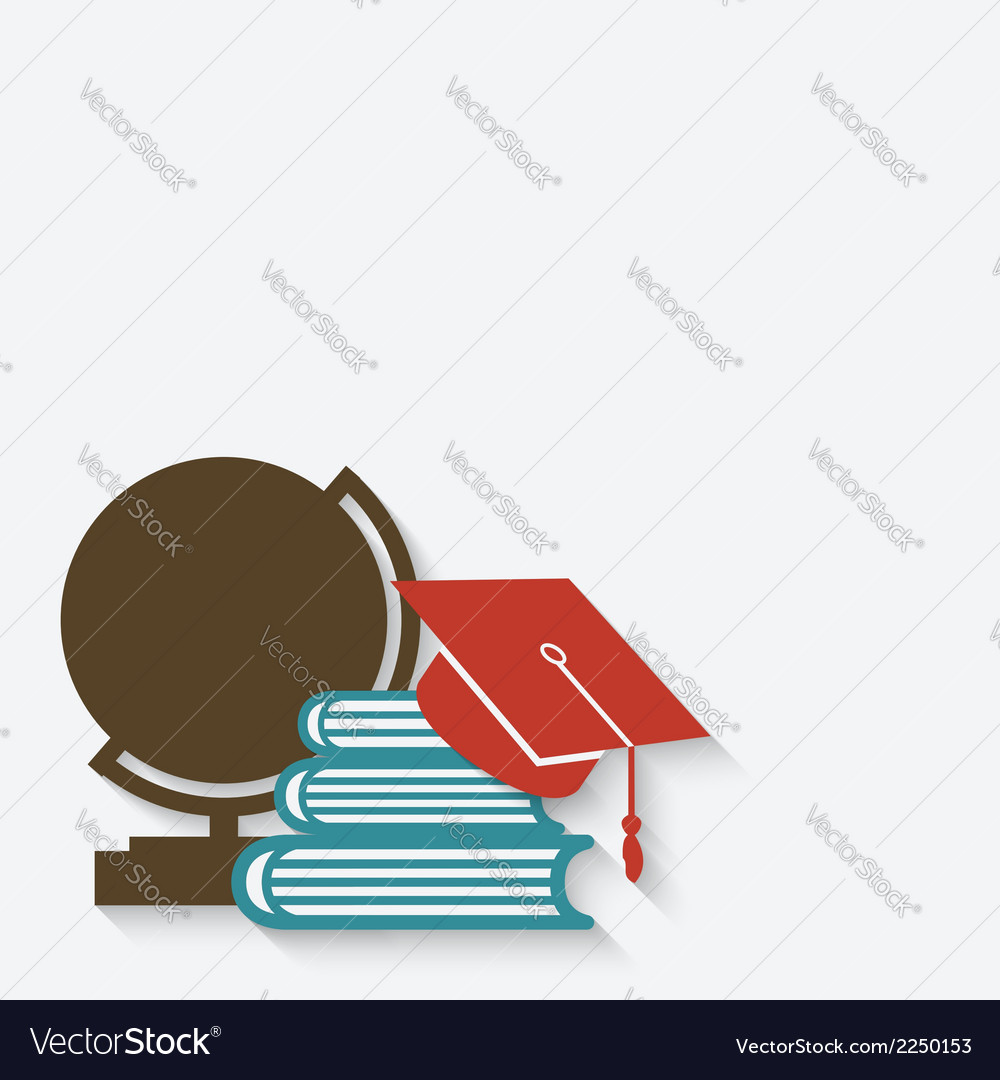 Education graduation background vector | Price: 1 Credit (USD $1)