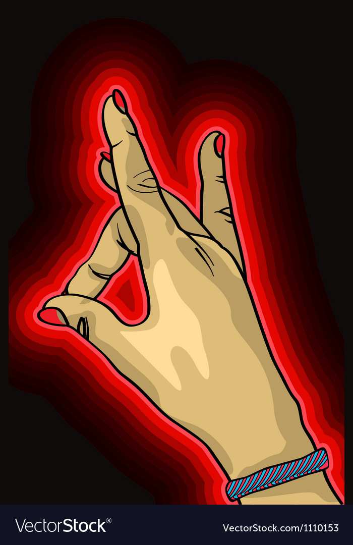 Hand up vector | Price: 1 Credit (USD $1)