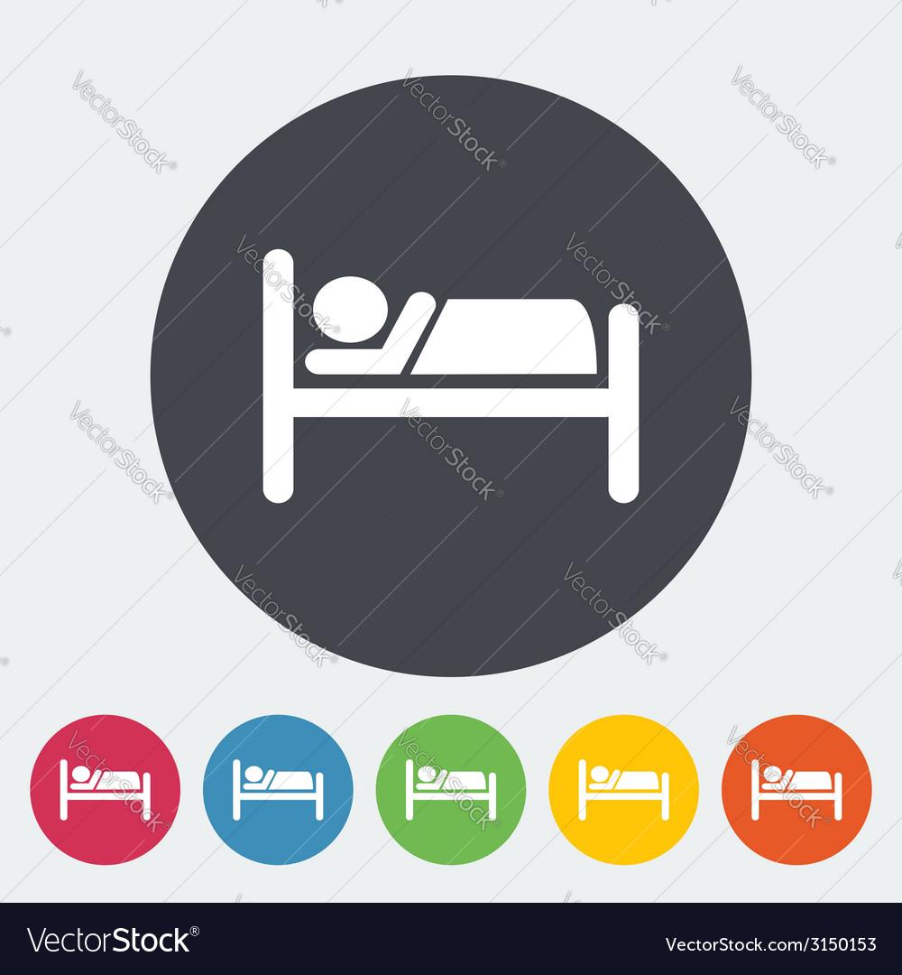 Hotel single icon vector   Price: 1 Credit (USD $1)