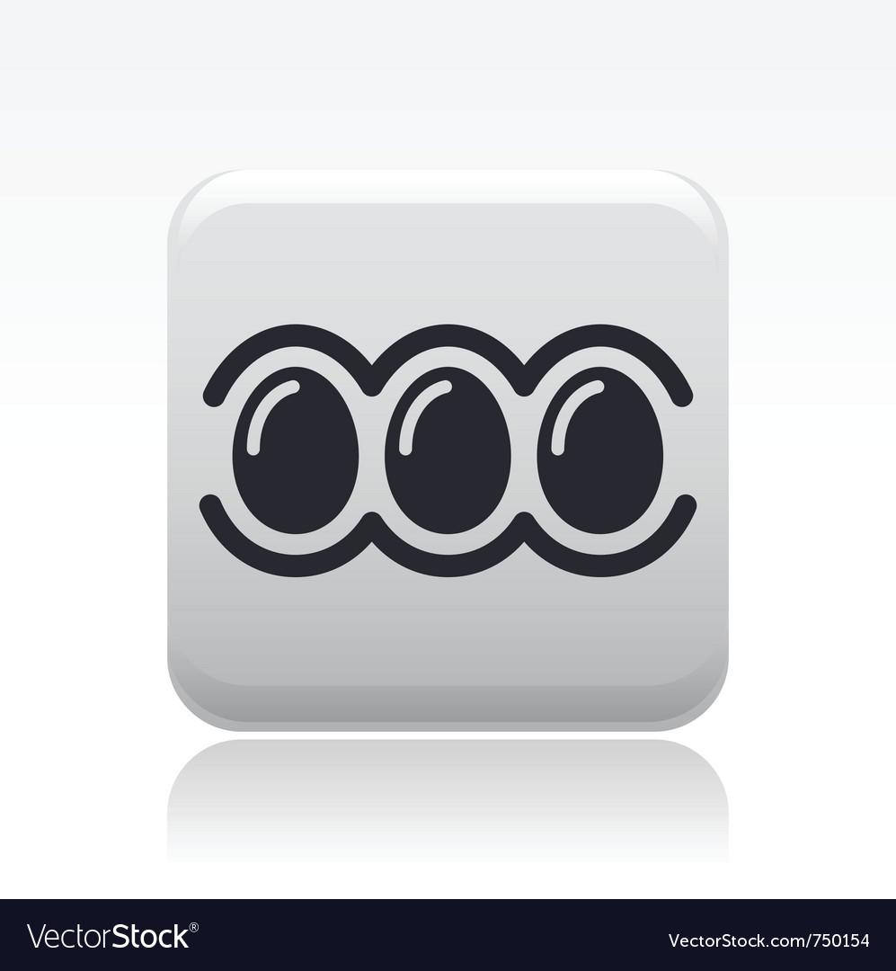 Eggs icon vector | Price: 1 Credit (USD $1)