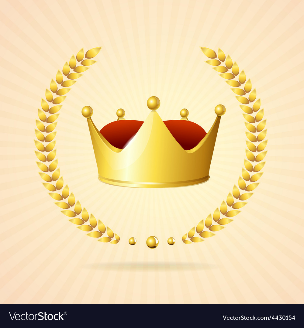 Golden royal crown vector | Price: 1 Credit (USD $1)